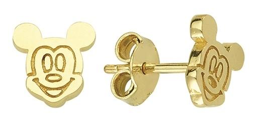 Boucles d'oreilles Mickey à tiges fixes pour enfant - Or jaune 10K