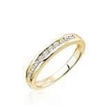 Half-eternity band for woman - 10K yellow gold & Diamonds