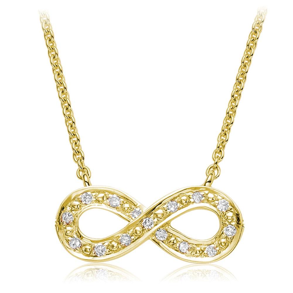 Collier infini pour femme - Or jaune 10K & Diamants