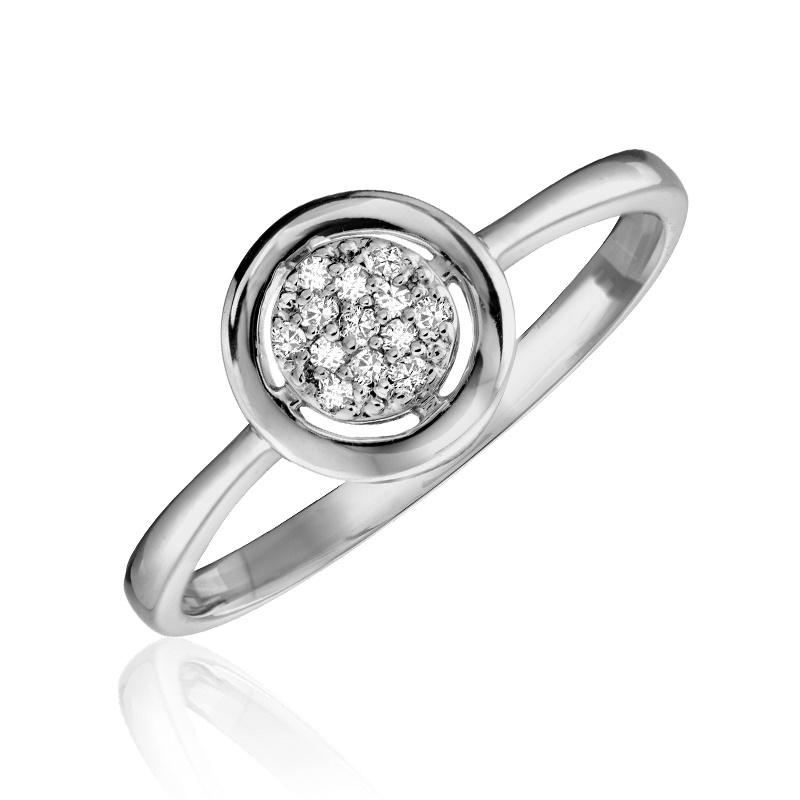 Ring for woman - 10K white gold & Diamonds
