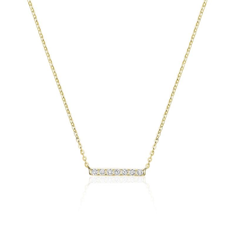 Collier pour femme - Or jaune 10K & Diamants