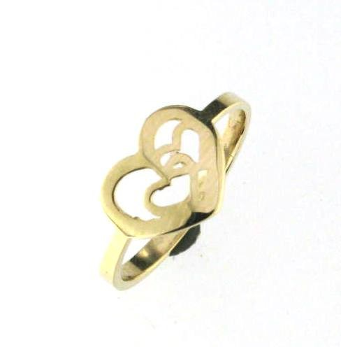 Heart ring for woman - 10K yellow gold