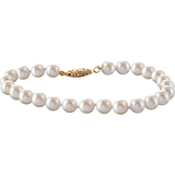 Bracelet 7in cultured pearls 5.5-6mm yellow Gold 14K clasp