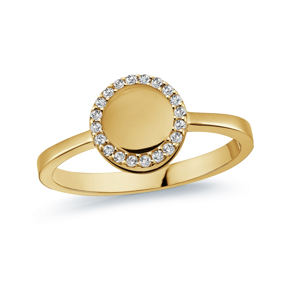 Ring for woman - 10K yellow gold & Cubic zirconia