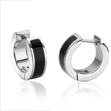 Huggies earrings for woman - 2-tone stainless steel
