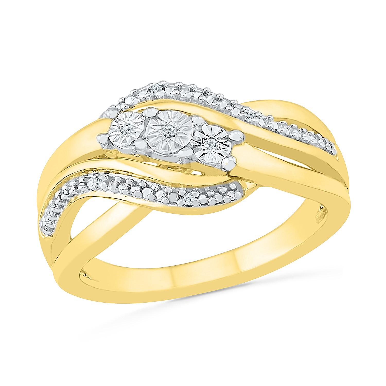 Ring for woman - 10K 2-tone gold & Diamonds