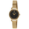 quartz watch for woman - Golden stainless steel & Black dial