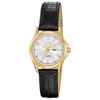 quartz watch for woman - Golden stainless steel & Silver-tone dial
