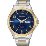 Montre Citizen au quartz pour homme - Acier inoxydable 2-tons & Cadran bleu