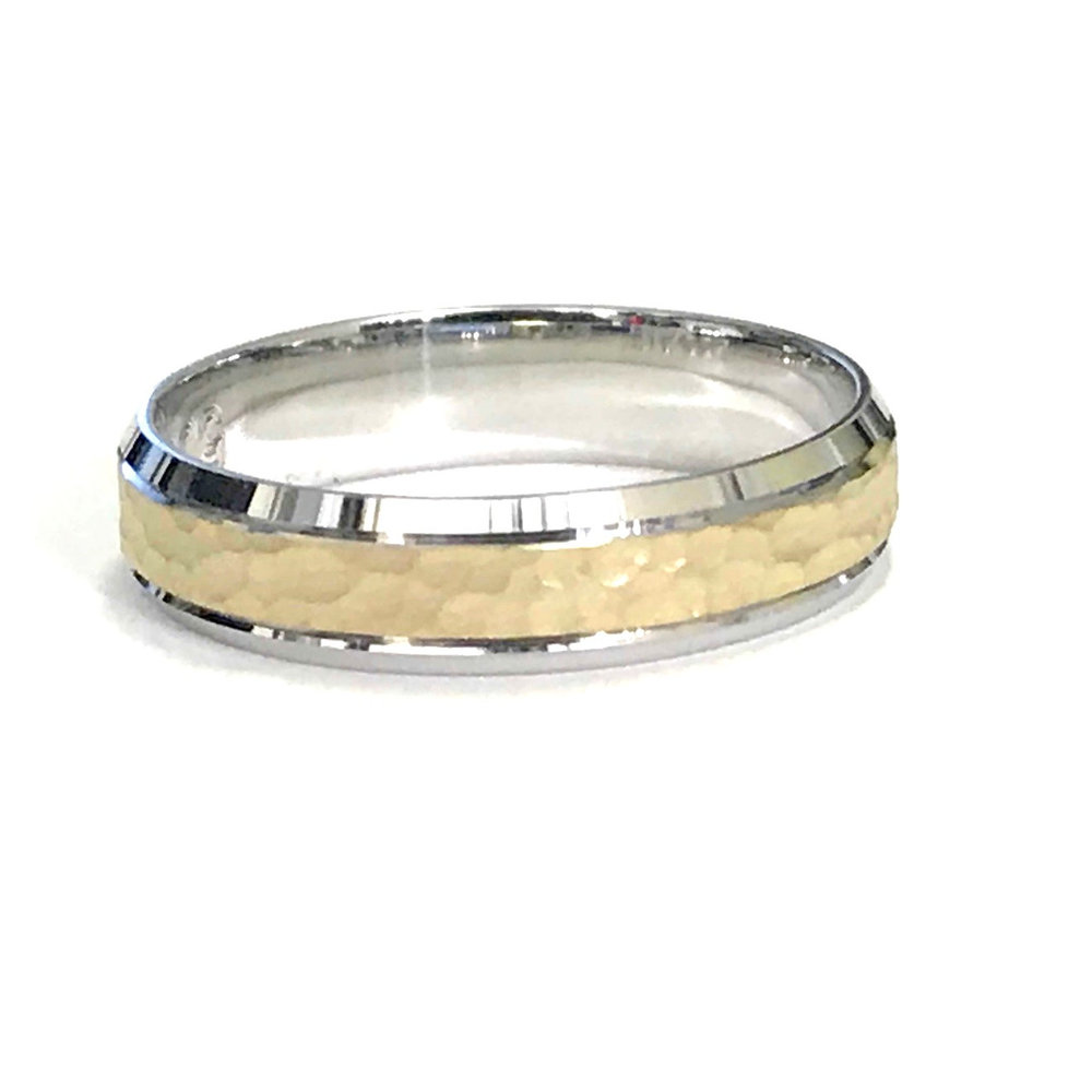 Band for man - 10K 2-tone gold (yellow & white)*