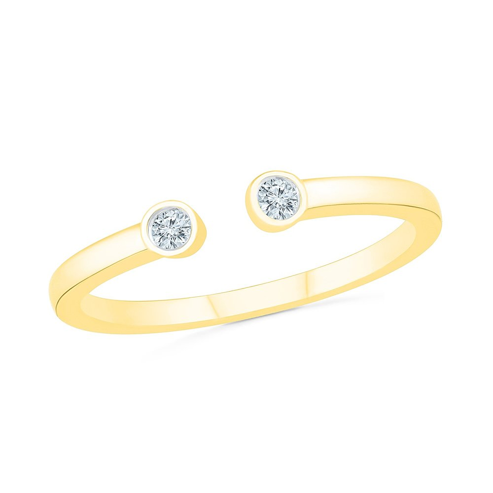 Ring for woman - 10K yellow gold & Diamonds