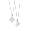 2 puzzle pendants for Autism Awareness - Sterling silver