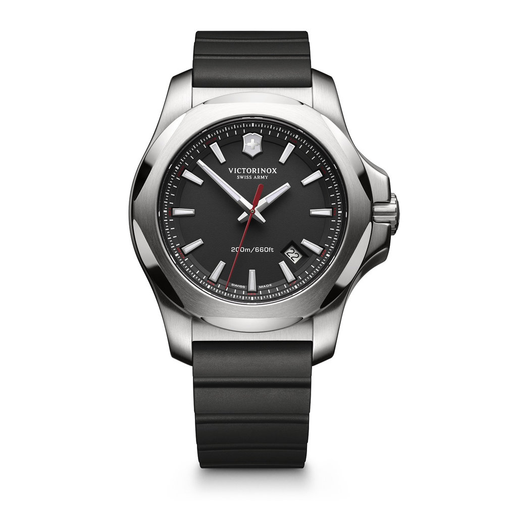 watch for man - Stainless steel case & Rubber strap