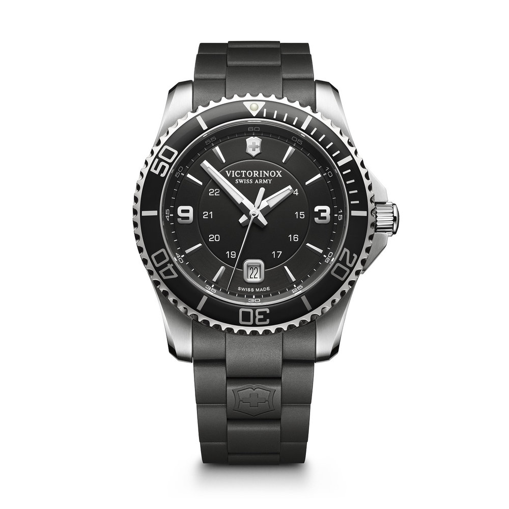 Maverick watch for man - Stainless steel case & Rubber strap