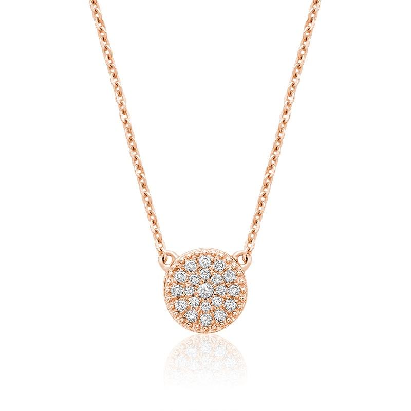 Collier pour femme - Or rose 10K & Diamants