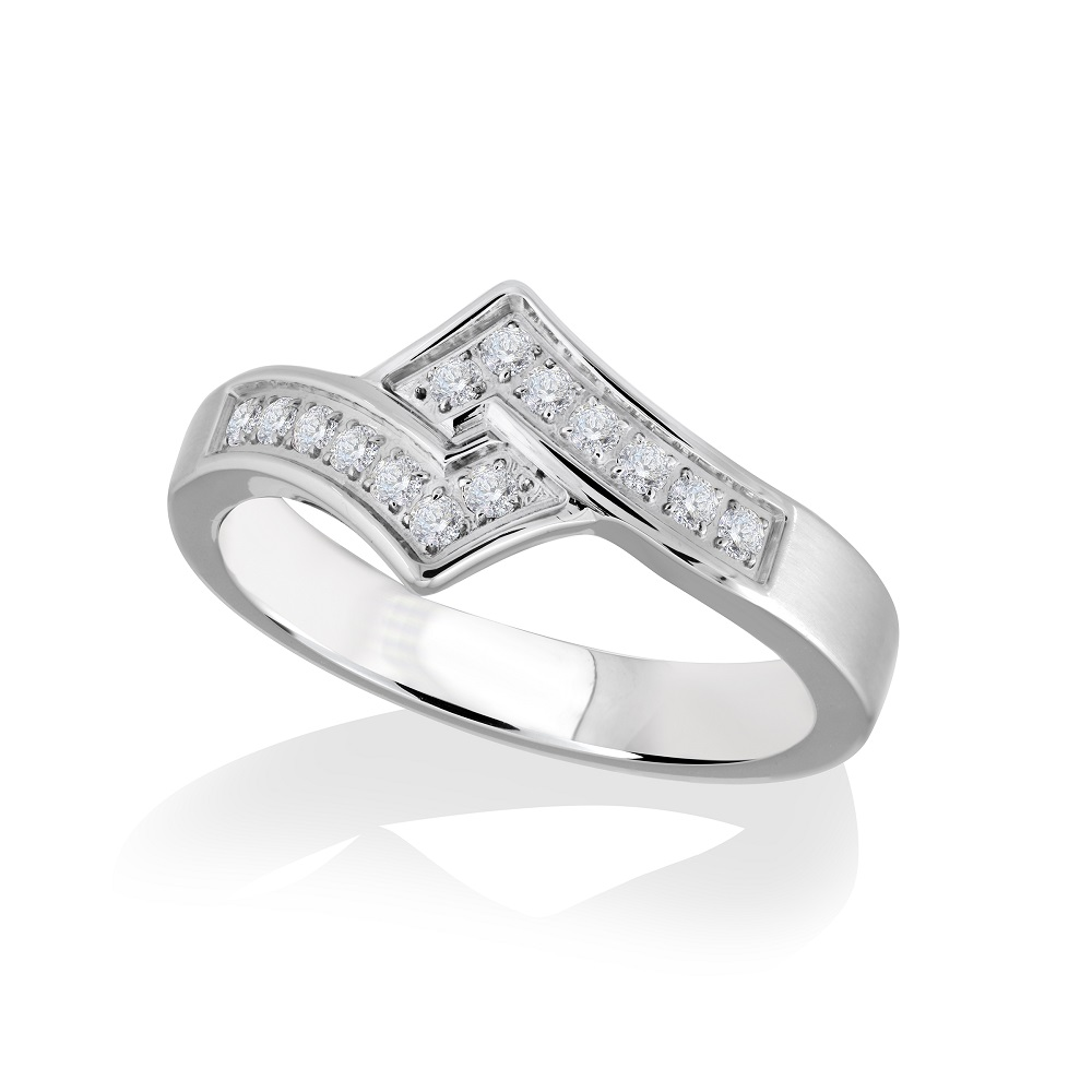 Ring for woman - Stainless steel & Cubic zirconia