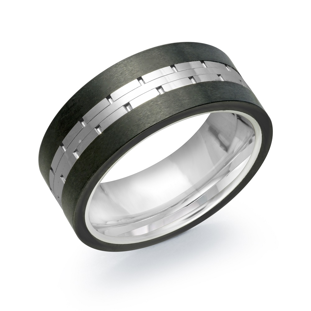 Band for man - 2-tone Tungsten