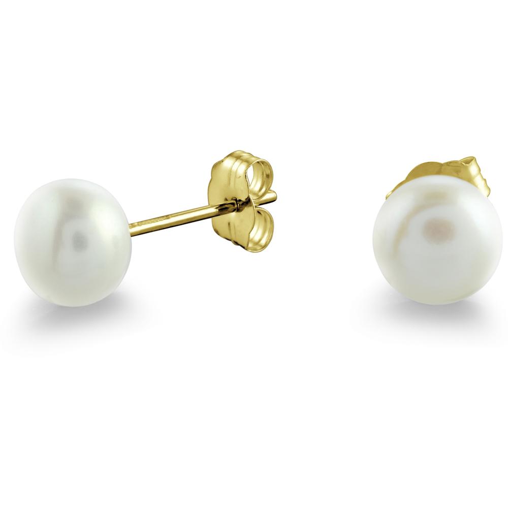 Soft Water pearls stud earrings in 14K yellow Gold