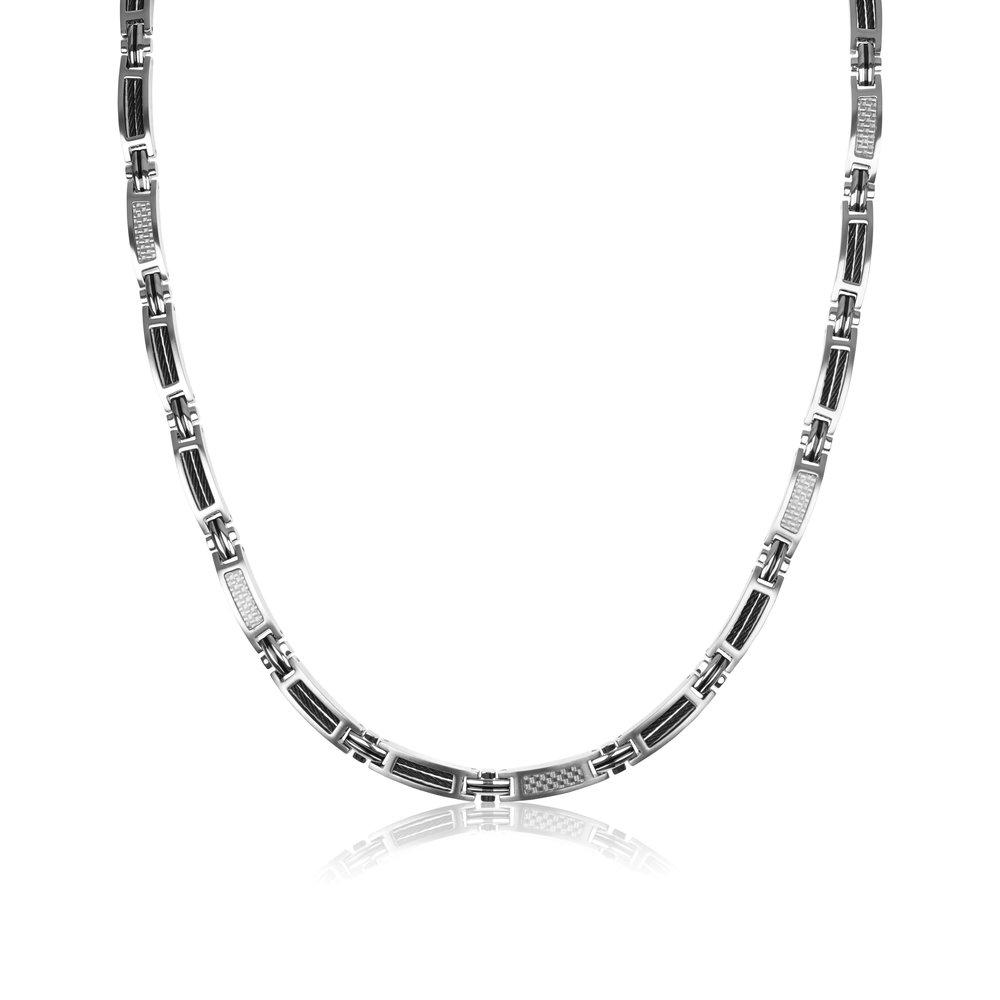 Bond Steel Cable Black & Carbon Fiber White