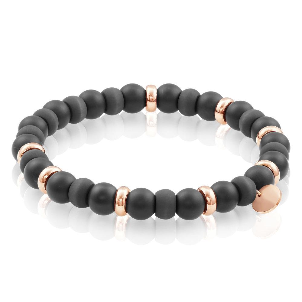 Italgem Bracelet Rose Steel & Carbon Fiber Ball