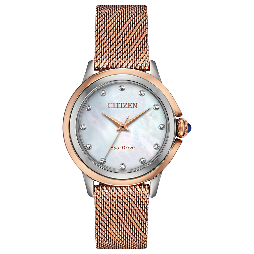 Eco-Drive For Women Pink Gold-Tone Stainless Case