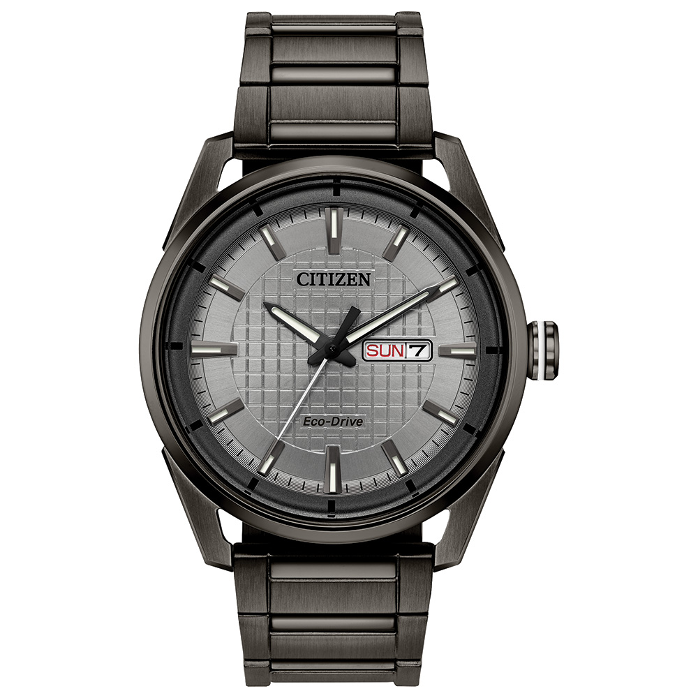 Eco-Drive For Women, Stainless Steel Black Ion Plated & Gray Dial