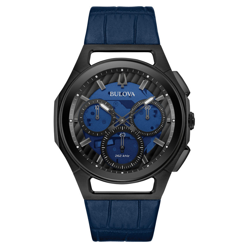 WATCH FOR MEN STAINLESS STEEL BLACK AND BLUE