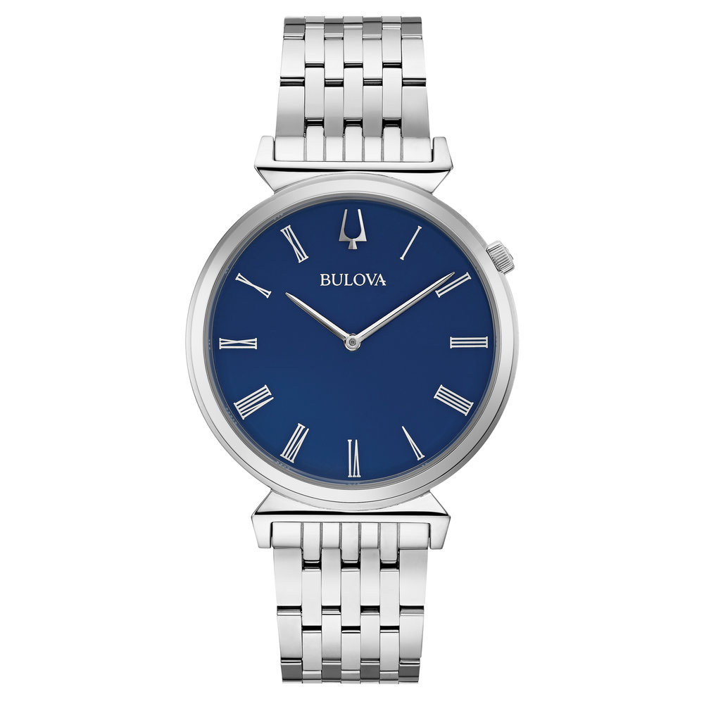 WATCH BULOVA FOR MEN STAINLESS STEEL IN BLUE DIAL