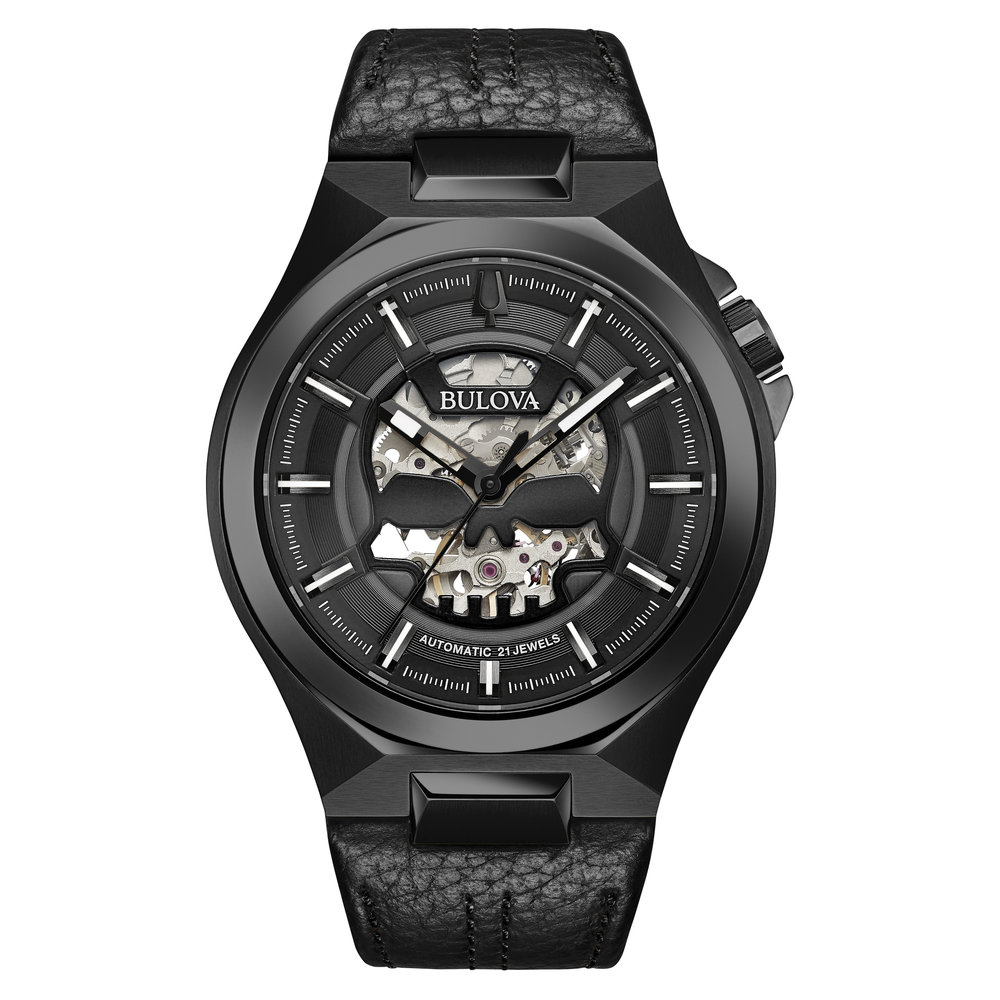 WATCH FOR MEN BLACK DIAL WITH BLACK ACCENTS