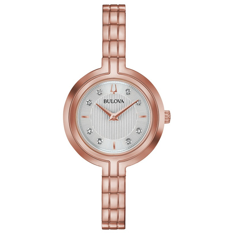 WATCH FOR WOMEN ROSE GOLD-TONE STAINLESS STEEL WITH EIGHT DIAMONDS