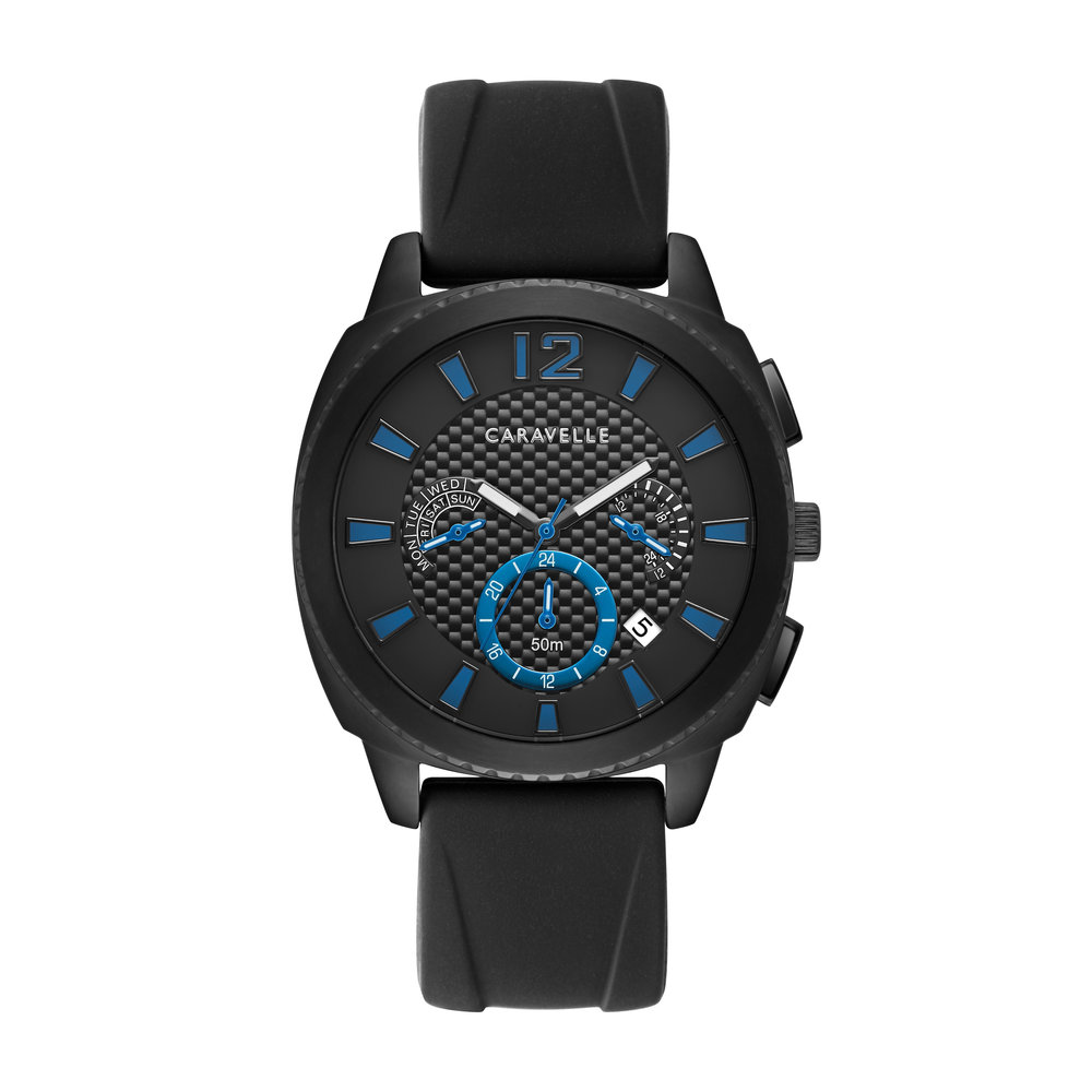 WATCH FOR MEN WITH BLACK AND BLEU DIAL