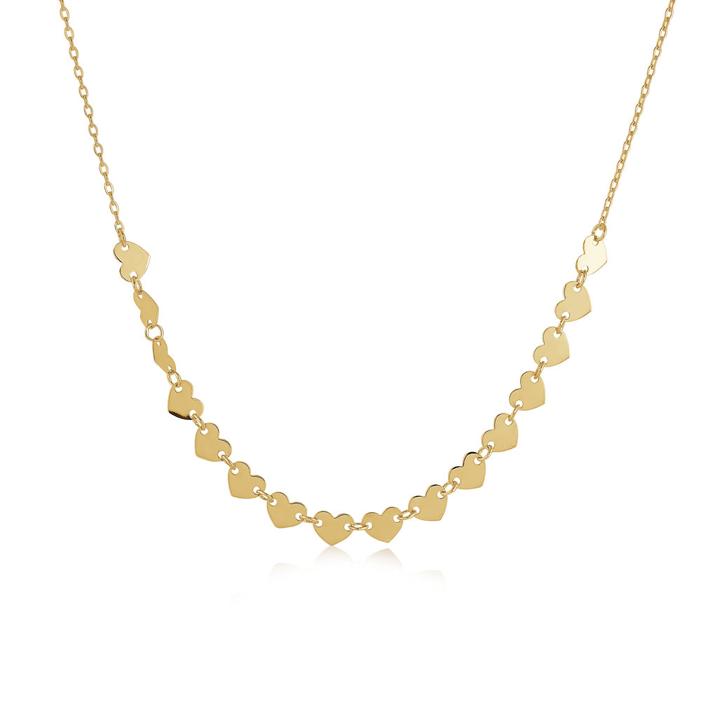 HEART NECKLACE FOR WOMEN YELLOW GOLD  10K