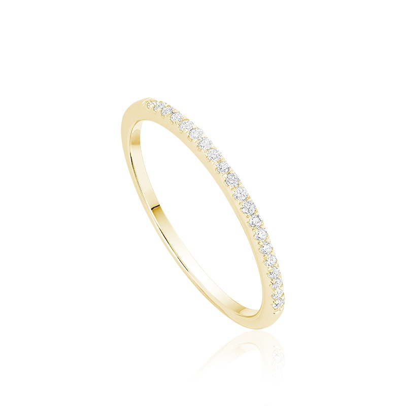 Ring for women in Diamond Semi-Eternity & yellow gold
