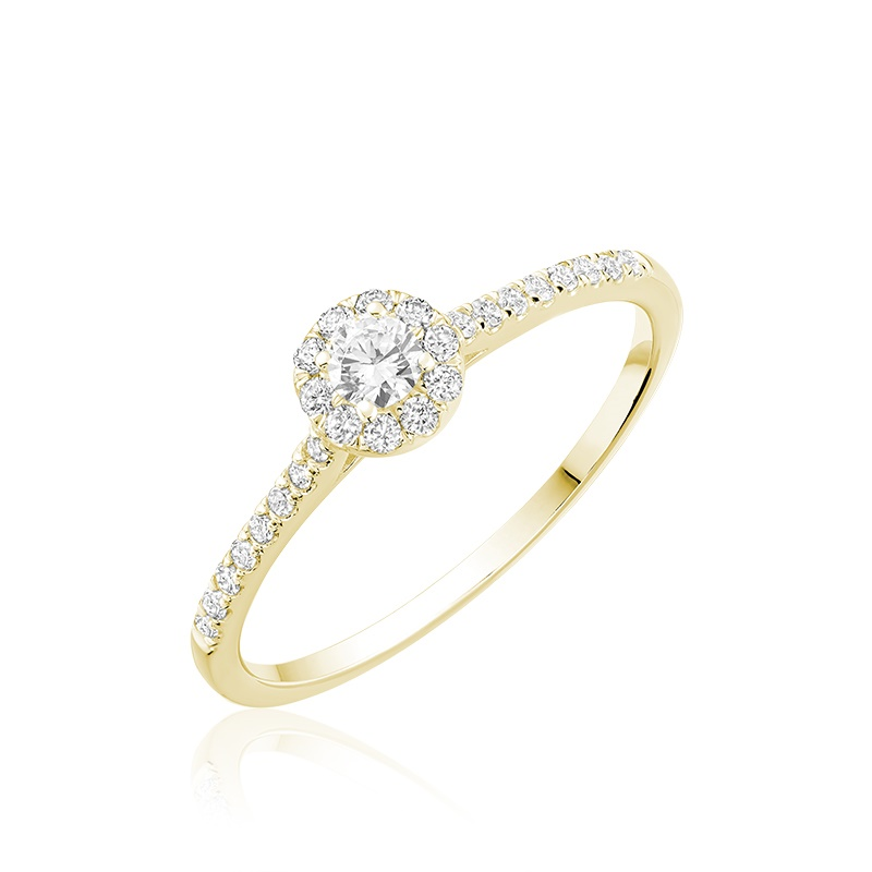 Ring For Woman - Or Yellow 10k & Diamants