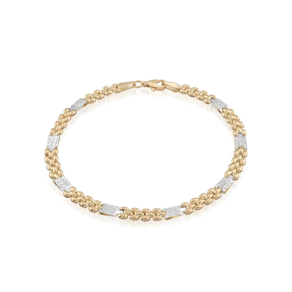 Bracelet 2 Tone 7.5 & 10k Gold