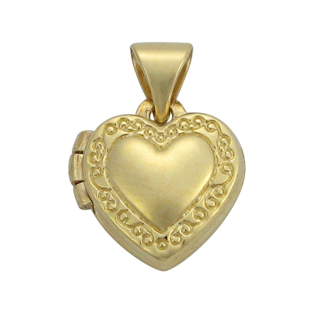 heart Medallion in yellow gold 10k