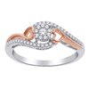 Ring for women- 10K white and rose Gold & Diamonds