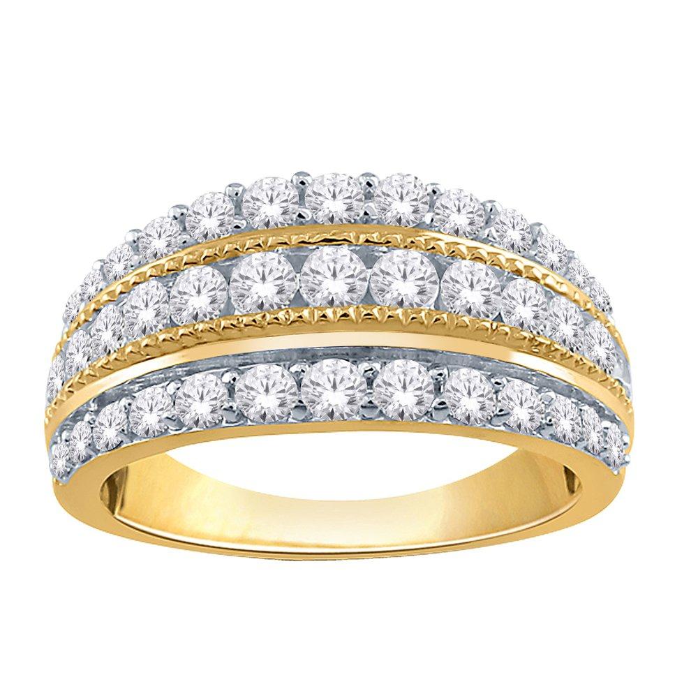 Ring for woman - 10K Yellow Gold & Diamonds 1.00 Carat T.W.