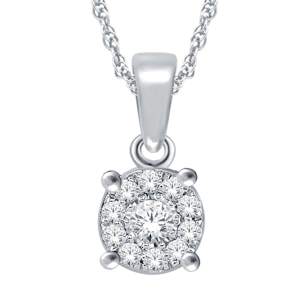 Pendentif pour femme - Or blanc 10K & Diamants totalisant 5pts