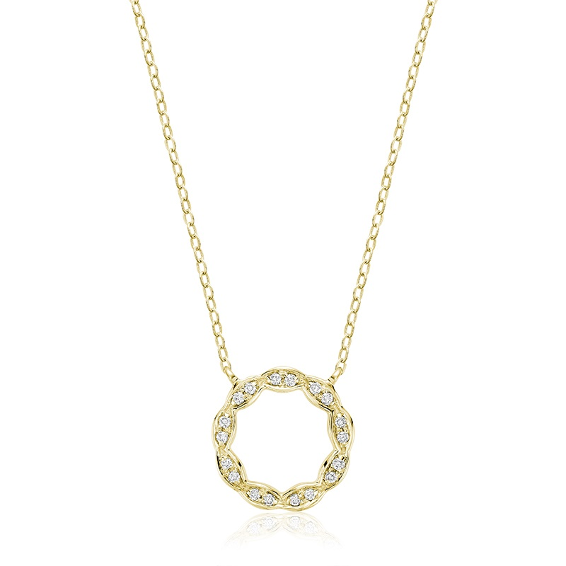 Pendentif pour femme - Or jaune 10K & Diamants