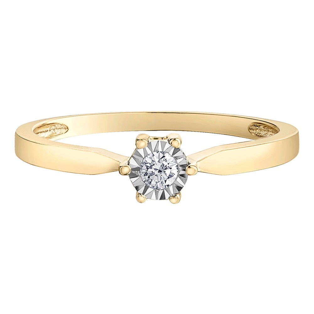 Bague Éclat du Nord pour femme - Or jaune 10K & Diamants Canadiens