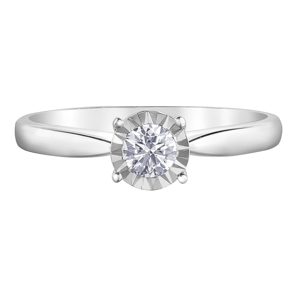Éclat du Nord ring for woman - 10K white gold & Canadian Diamonds  T.W. 14PTS