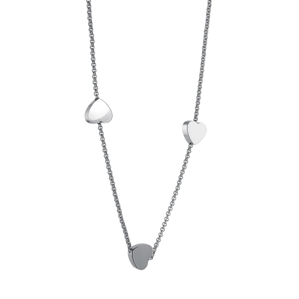 Stainless steel necklace for women - Triple heart