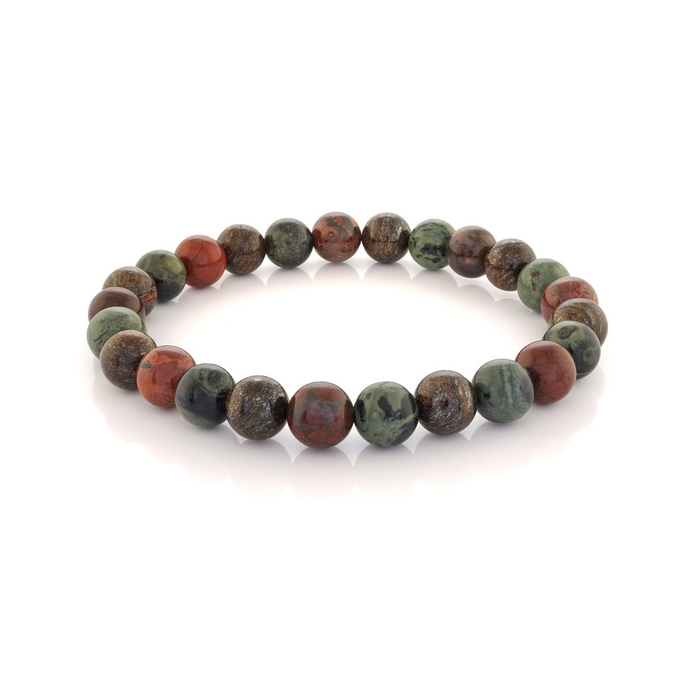 Stainless steel bracelet with browns ball