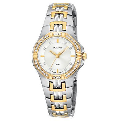 Ladies Watch - White Dial with Swarovski Crystal