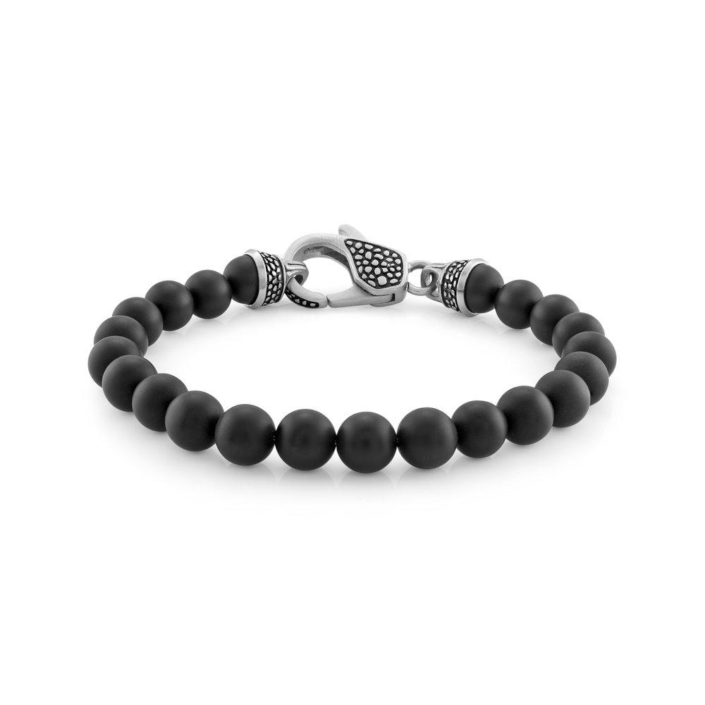 Italgem Bracelet  - Stainless steel & black pearl 8.5