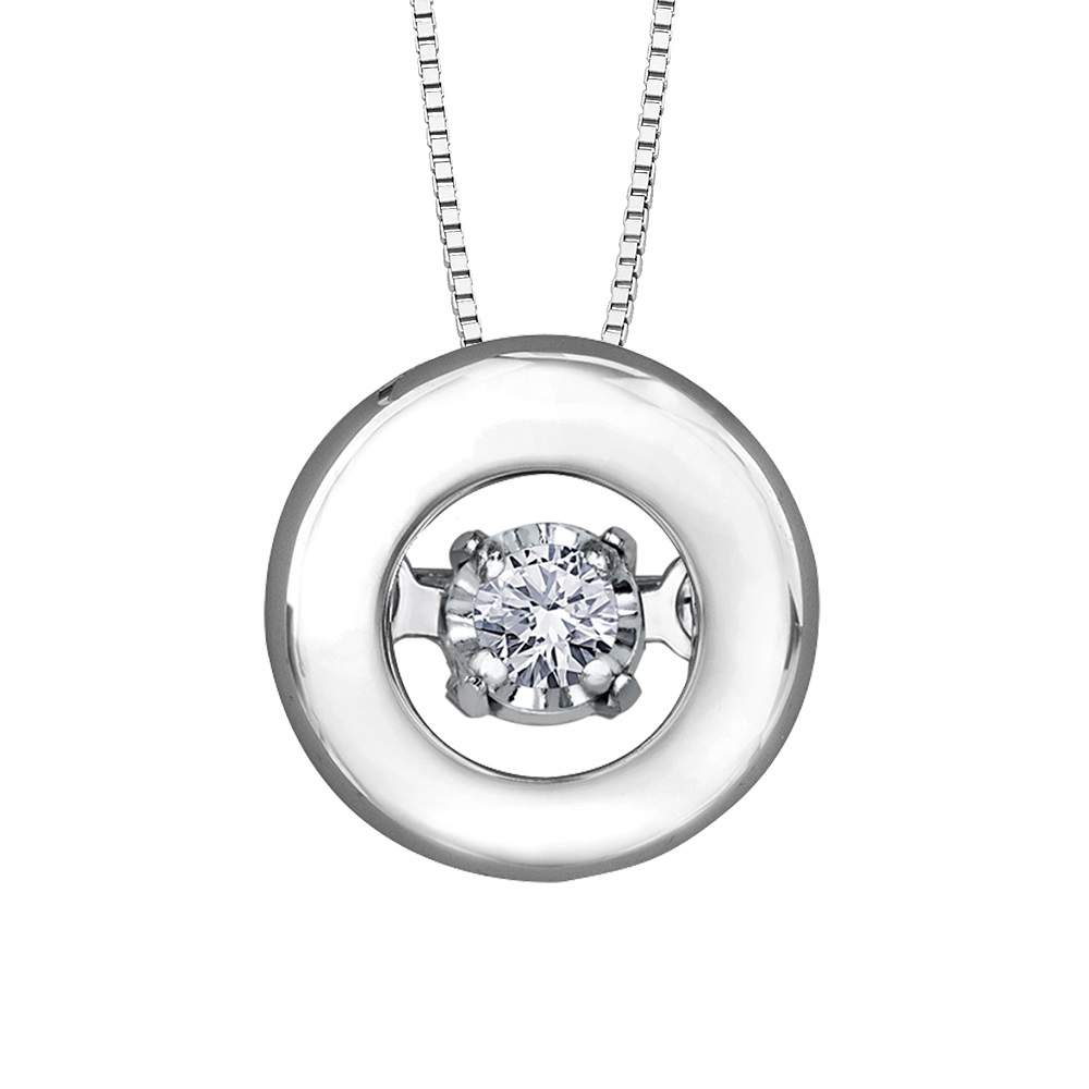 Éclat du Nord Dancing Diamond Pendant - 10K white gold & Canadian diamond