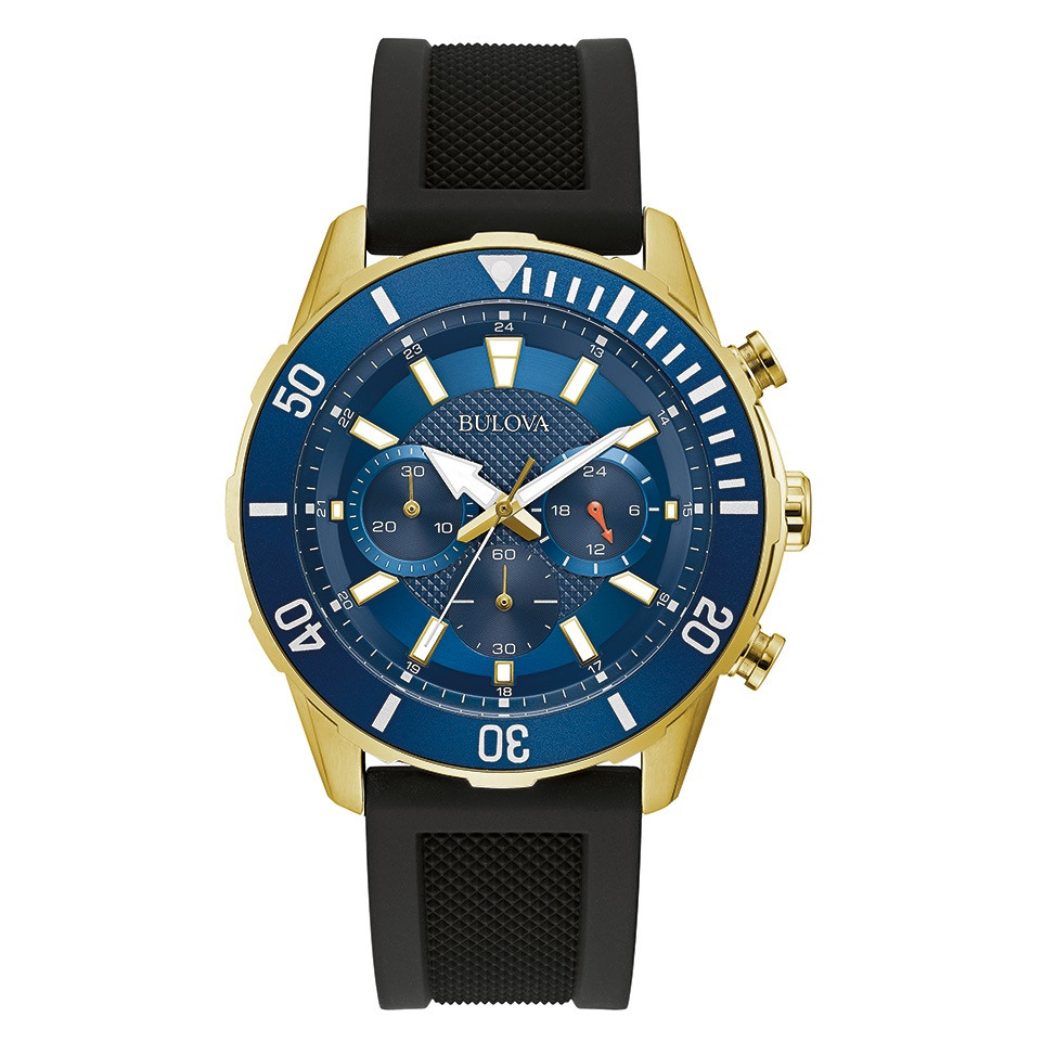 watch for men stainless steel in bleu dial