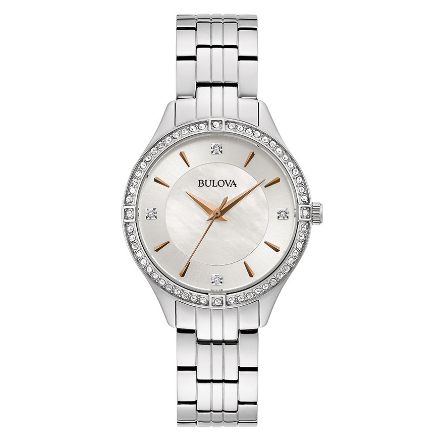 watch for Women - Stainless steel bracelet with white dial