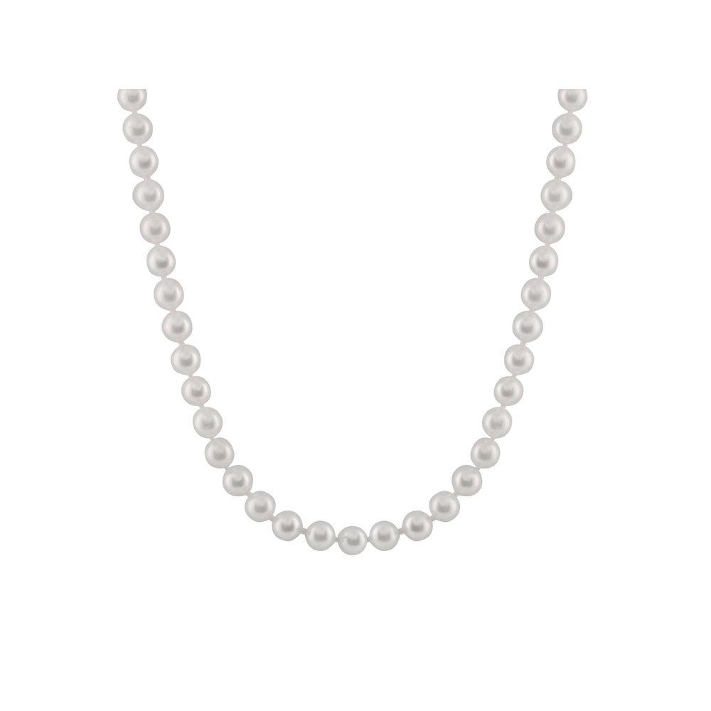 Collier de Perles de 18 pouces - fermoir en or 14K